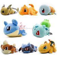 fısıltı peluş toptan satış-15 inç Pokemons Pikachu Charmander Squirtle yastık Peluş oyuncaklar Yumuşak dolması sevimli Kapmak makinesi Bebek Çocuk doğum günü Için en iyi hediye lol