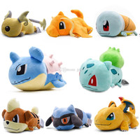 ingrosso gioca bambole di cuscino-Pokemon 15 pollici Pikachu Charmander Squirtle cuscino Giocattoli di peluche Morbido peluche carino Afferrare macchina Bambola Per bambini compleanno miglior regalo lol