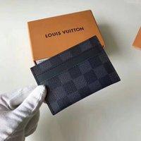 en iyi kredi kartı cüzdanı toptan satış-Mektup en kaliteli moda stil lüks tasarımcı klasik ünlü erkekler kadınlar ünlü hakiki deri kredi kartı tutucu mini cüzdan M62170 Bırak