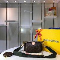 nuevos bolsos de moda al por mayor-68118 bolso pequeño de moda nuevo bolso de tres piezas bolso de cuero bolso cruzado de alta calidad para mujer regalos calientes
