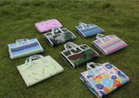 portatif açık kamp matları toptan satış-145 * 150 cm Açık Spor Piknik Kamp Pedleri Ekstra Büyük Taşınabilir Katlanır Mat Plaj Mat Oxford Bez Uyku Yastık Mat 8 Renk