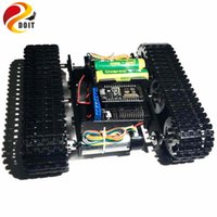 Wholesale toy chassis resale online - Mini T100 Crawler Robot Tank Car Chassis with Nodemcu Wireless WiFi Controller Kit Tracked Robot Competition DIY RC Toy kit