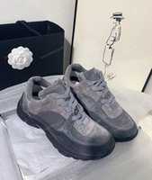 Wholesale women comfort leather shoes for sale - Group buy Women Mens Low Top Leather Suede Shoes Sneakers Alphabet Patchwork Trainers Casual Shoes Comfort Party Wedding Sneakers Chaussures