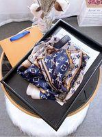 lenço de xale chiffon impresso venda por atacado-Venda de alta qualidade designers de luxo high-end primavera lenço de seda de moda senhora e verão novo impresso lenço 180 * 90 centímetros D002