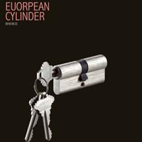 cerraduras uk al por mayor-Cerradura de cilindro de la llave maestra del cilindro de la cerradura de cobre amarillo del perfil euro del Reino Unido de la seguridad, manija de puerta de alta calidad, fabricante de la cerradura