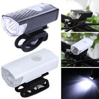 Wholesale bike light headlamp for sale - 300 LM Super Bright LED Bike Light Cycling Headlamp Mode USB Rechargeable LED colors LJJZ20