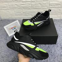 lona das mulheres negras venda por atacado-Preto B22 Sneakers Calfskin Formadores Preto Clássico Das Mulheres Dos Homens de Lona Plana Sapatilha Retro Patchwork Luxo Casual Sneaker Atacado