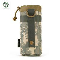 нейлоновые мешки с водой оптовых-550 мл нейлоновый чехол для бутылки с водой, тактический карман для чайника Molle, держатель для бутылки с водой армейская сумка для снаряжения 4 цвета походная походная сумка