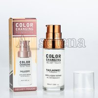 Wholesale professional liquid foundation for sale - Group buy TLM ml Color Changing Liquid Foundation All Day Radiance Foundation Professional Intelligent Repair Concealer with High Quality