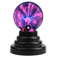 yenilik ampuller toptan satış-Plazma Topu küre Sihirli ay lambası USB Elektrostatik Küre Ampul dokunmatik dokunmatik Oyuncak Oyuncak Yatak Odası Parti novedades