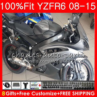 Wholesale r6 fairing injection for sale - Group buy Injection Fairing For YAMAHA YZF600 YZF R600 YZFR6 YZF R YZF R6 YZF R6 Silvery Fairing
