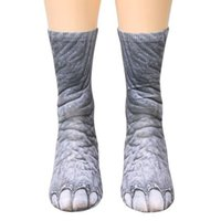 Wholesale cosplay women tiger for sale - Unisex Fashion Casual D Printed Animal Sock Foot Hooves Adult Sock Cosplay Cat Dog Elephant Tiger Zebra Dinosaur