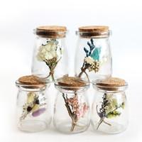 blumenartikel großhandel-Trockenblume in Glas Floral Wishing Bottle Fernbedienung Beleuchtung Valentinstag Geschenk Neuheit Artikel