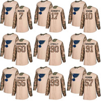 Wholesale green camo jersey for sale - Group buy St Louis Blues Stanley Cup Champions Ryan O Reilly Vladimir Binnington Camo Authentic Veterans Day Stitched hockey Jerseys