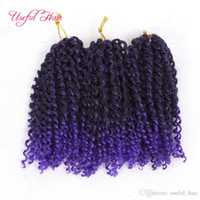 Wholesale freetress braiding hair resale online - hot sell3Pcs Curly Crochet Hair Freetress Marlybob Afro Kinky Curly Crochet Braids Hair Extensions Colors Synthetic Bra