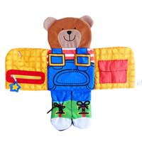 brinquedos educativos de tecido venda por atacado-Montessori Bebê Tecido Macio de Pano Livre Para Interativo Infantil Aprendizagem Precoce Brinquedos Educativos Buch 10 pcs