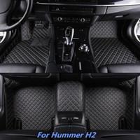 neues auto hummer großhandel-Neue hochwertige 3-teilige vordere und zweite Reihe mit speziell entwickelten Leder-Fußmatten für Hummer H2