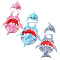 traje de baño de la colmena niños al por mayor-Baby Girls Boys Cartoon Shark Swimsuit Kids Swimwear Ruffle Bikini traje de baño de una pieza Niños sin mangas Traje de baño ZZA809