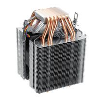 775 lüfter großhandel-6 Rohre Computer CPU Kühler Lüfter Kühlkörper für Lag1156 / 1155/1150/775 Intel Amd
