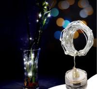 ingrosso le luci fiabesche decorazioni della tabella delle nozze-2M luci LED stringa sommergibile 20 LED LED stellato Impermeabile luce di filo cooper Wedding Table Decorazioni Festival vacanze di Natale