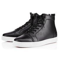 ingrosso scarpe da ginnastica nere-Con la scarpa da donna casual da box, preferisci le scarpe da festa di lusso, spuntano il fondo rosso, la sneaker, gli uomini