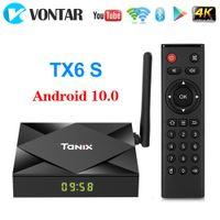 Tanix TX6S Android 10.0 TV Box Allwinner H616 Quad Core 4GB 64GB Smart Streaming Media Player 5G WiFi Bluetooth Set Top Box