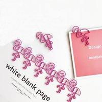 livros de materiais escolares venda por atacado-Pink Flamingo Bookmark Planner Flamingo Clipe De Papel Flamingo Binder Clipes para o Livro de Papelaria Material Escolar Escritório