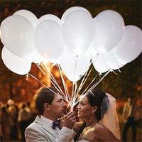 свадебные светящиеся шары оптовых-12-дюймовые белые светодиодные вспышки воздушные шары с подсветкой светодиодный шар свечение день рождения праздничные атрибуты Свадебные украшения с питанием от батареи