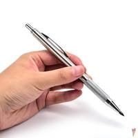stationär für kinder großhandel-Metall Automatische Bleistift Silber Mechanische Stifte Für Kinder Schreiben Geschenk Schüler Schule Stationäre 3mm zufällige stil