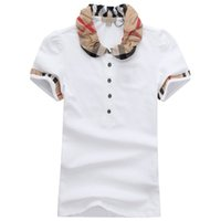 Wholesale model for sale - Womens Designer T Shirts High Quality Printing Round Designer Brand T shirts Models Short women Polo Shirts