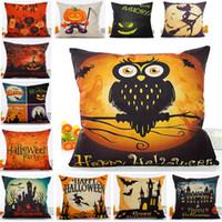 Wholesale anime pillowcases resale online - Halloween Pumpkin Pillow Case Linen Cartoon Anime Pillowcase Home Sofa Car Decorative Xmas Gifts Home Decorative Not Core XD21438