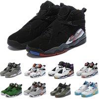 viii basketbol toptan satış-2020 J8 Erkekler 8 basketbol ayakkabıları Classics VIII spor sneaker Basketbol botları size7-13