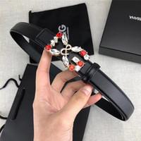 large ceintures noires pour homme achat en gros de-Designer ceinture de luxe hommes et femmes ceinture ceinture café noir corps corps rouge et blanc diamant DG boucle haute qualité large 2.4 cm