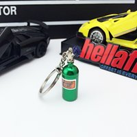 Wholesale pill boxes lighted resale online - Car Modification Nitrogen Turbocharged Mini Key Chain Straps Keychain Novelty Pill Box Unscrews So You Can Store Pills