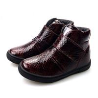 botas altas negras para niñas al por mayor-Otoño fieltro de alta calidad RedBlack Kids Boots tamaño 25-30 Shose antideslizante para niña