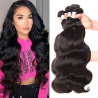 cheveux vierges de machine trame achat en gros de-100 g de Malaisie cheveux Bundles Body Wave peut être teint Vierge du corps humain Non traité Bundles cheveux vague Trame de cheveux Extensions abordable