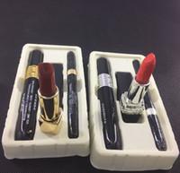 Wholesale black lipstick brands resale online - Brand Makeup set Maquillage set Lipstick Eyeliner Mascara Volume Mascara Makeup eyebrow gel free shiping