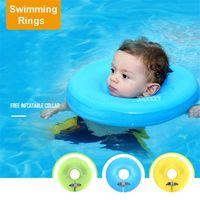 säuglingshals schwimmer ring großhandel-Solide Baby Schwimmen Hals Ring Baby Hals Float Flot liebt Para Piscina Schwimmen Trainer Infant Float Schwimmen Zubehör