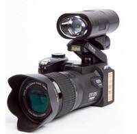 mini-digitalkamera lcd großhandel-Neue POLO D7200 Digitalkamera 33MP FULL HD1080P 24fach optischer Zoom Autofokus Professioneller Camcorder