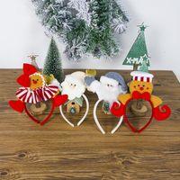 Wholesale hoop art for sale - Group buy 2 Circle Christmas Ornament Fabric Art Santa Claus Hair Hoop Lovely Biscuits People Girl Head Hoop birthday party