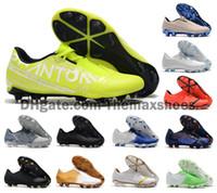 zapato de fútbol nuevo hombre al por mayor-Los hombres calientes 2019 Phantom Venom VMN Elite FG Nuevas luces bajo el radar Fútbol Fútbol Tamaño de los zapatos Botas de Tacos de EE.UU. 6.5-11