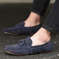 Wholesale new simple shoes men s online - New Men Tassel Loafers Cow S Leather Formal Shoes Elegant Dress Shoe Simple Slip On Man Casual Footwear