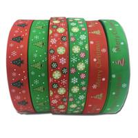 ingrosso decorazioni di paglia di natale-100-Yard Christmas Favor XMAS Nastro decorativo Regali Confezionamento Confezione Regalo Bomboniere Decorazione 6 colori da scegliere