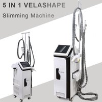 Wholesale cavitation laser slimming for sale - ultrasonic cavitation RF Vacuum Velashape laser light vacuum roller body shape velashape slimming machine RF skin tighten