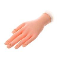 ingrosso mano flessibile della pratica del chiodo-Mano modello Nail Art Practice flessibile mobile morbido