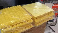 Wholesale soundproofing foam resale online - Big size x50x5cm Yellow Acoustic Studio Soundproofing Foam Sound Absorption Sponge Pyramid Wall Panels for Music Rooms Noise Reduction