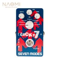 guitarra calina al por mayor-NAOMI Caline CP-38 Siete modos de guitarra Pedales de efectos de guitarra Pedal multi fx Diseño de circuito digital Partes de guitarra Accesorios Nuevo