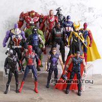 anime superheld figur großhandel-Marvel Avengers 3 Unendlichkeit Krieg Film Anime Super Heros Captain America Ironman Spiderman Hulk Thor Superheld Action Figure Spielzeug Q190429