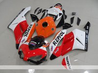Wholesale abs motorcycle fairings sale for sale - Group buy Injection Mold New ABS Motorcycle Full Fairings Kits Fit for HONDA CBR1000RR CBR1000 RR Fairing set Repsol Hot sales