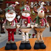 dekor için yılbaşı ağacı süsleri toptan satış-Noel Ağacı Dekoru Yılbaşı Süsleme Ren Geyiği Kardan Adam Noel Baba Daimi Doll Ev Dekorasyon Merry Christmas Hediye Yükseklik 48cm